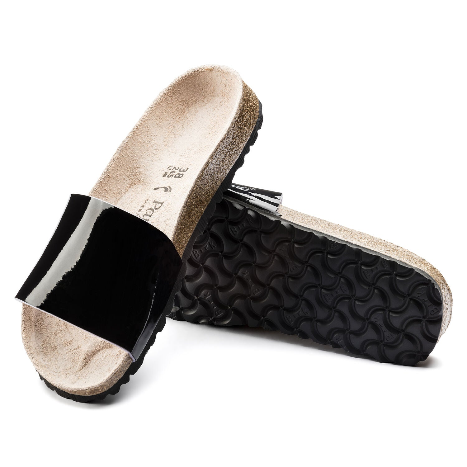 Cora Two Tone Patent Black