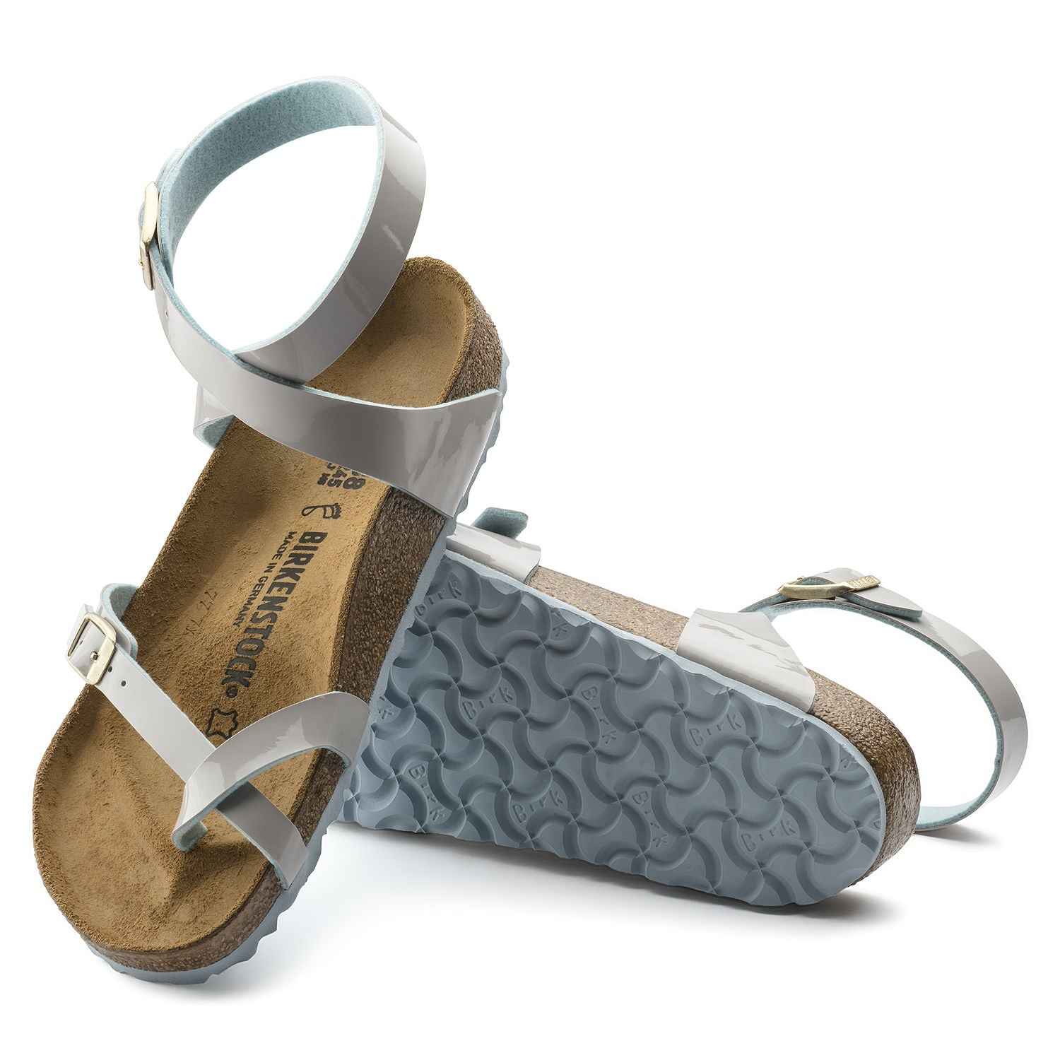 Sandalia Yara Patent Two Tone Light Gray