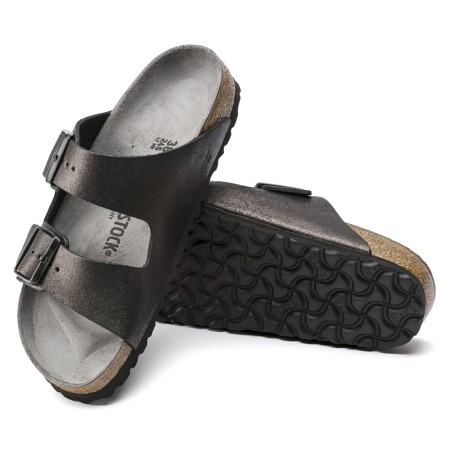 Sandalia Arizona Washed Metallic Antique Black