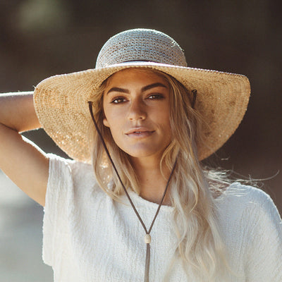 Tuscany Wide Brim Ladies Summer Straw Hat