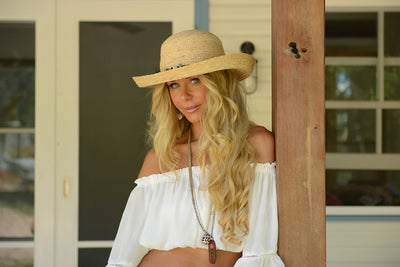 Arizona Ladies Summer Raffia Hat