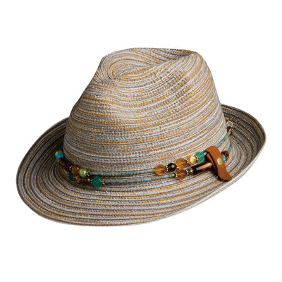 Spain Fedora With Removable Necklace