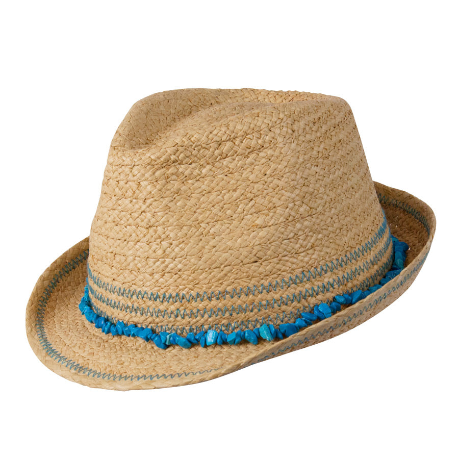 Play Time Kids Raffia Fedora
