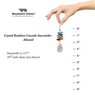 Crystal Rainbow Cascade Suncatcher Almond