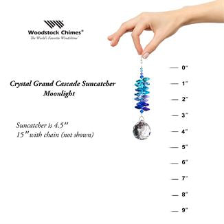 Crystal Grand Cascade Suncatcher Moonlight