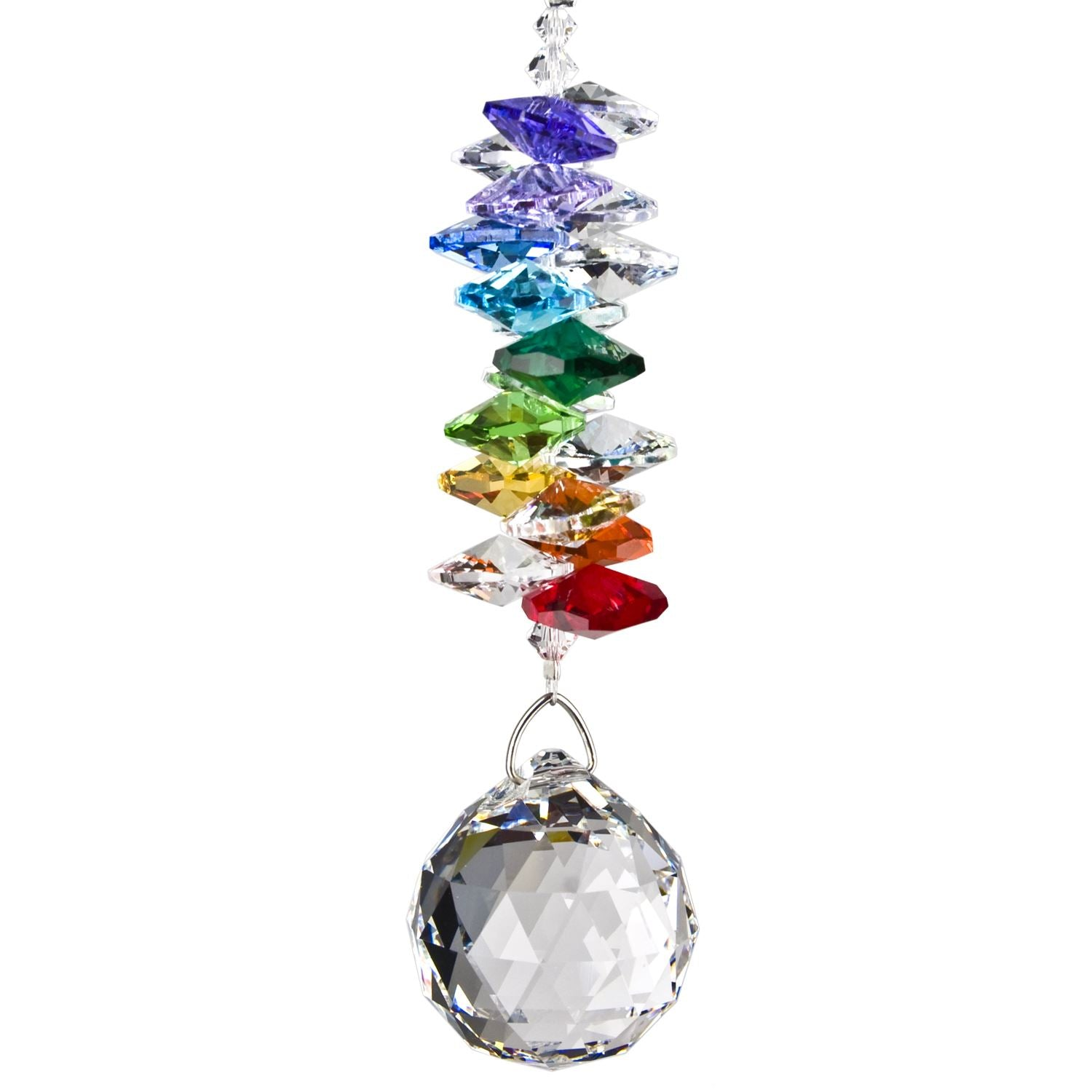 Crystal Grand Cascade Suncatcher - Rainbow