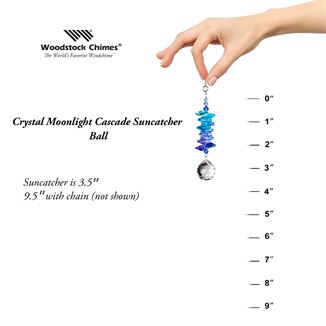 Crystal Moonlight Cascade Suncatcher Ball