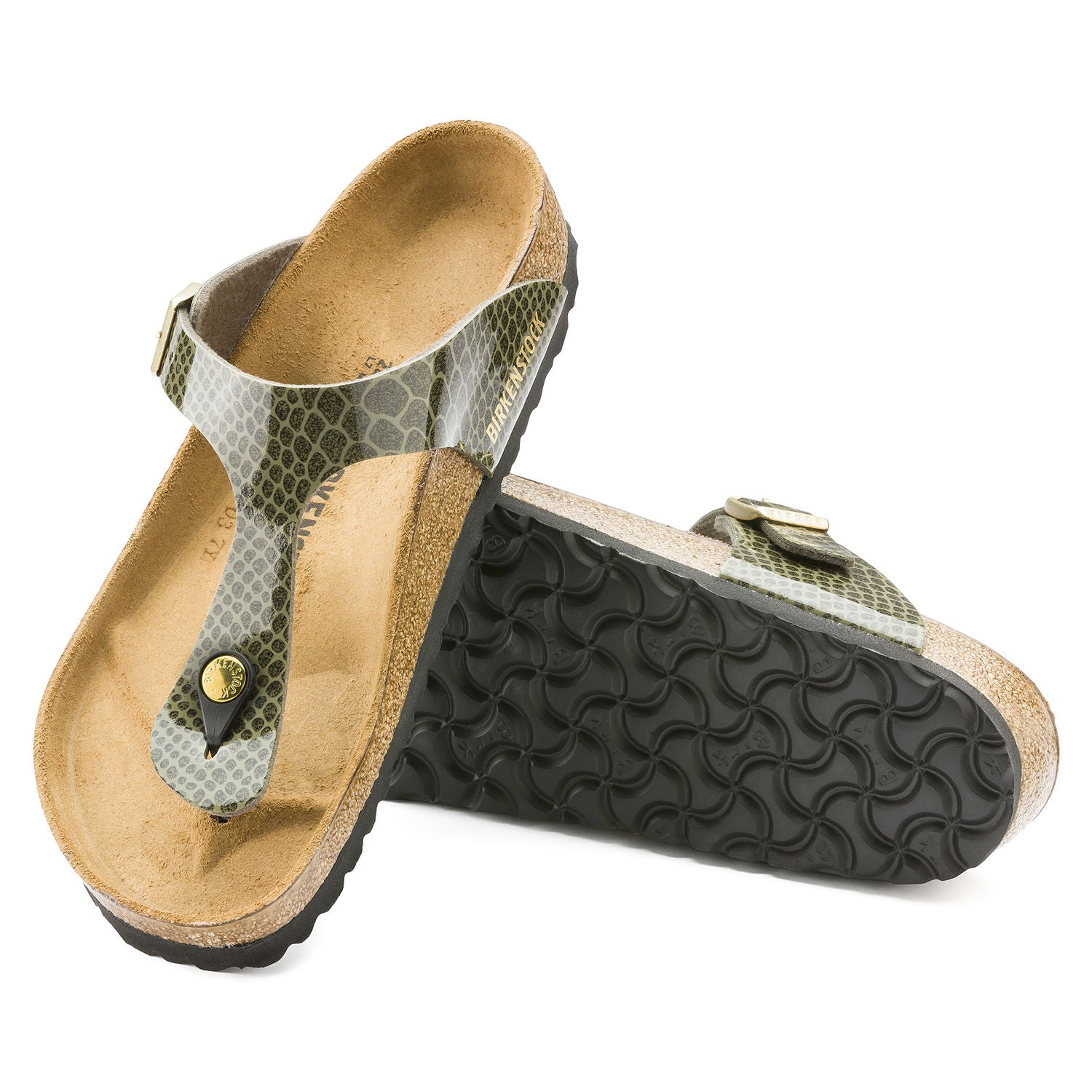 Sandalia Gizeh Magic Snake Khaki