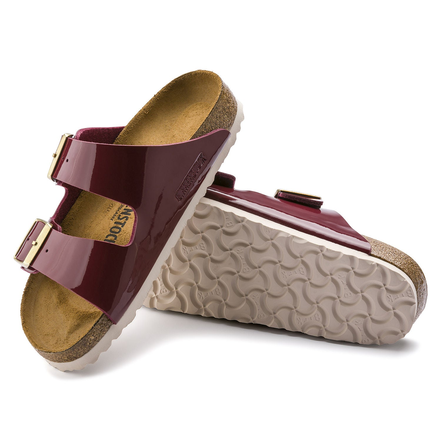 Sandalia Arizona Patent Bordeaux