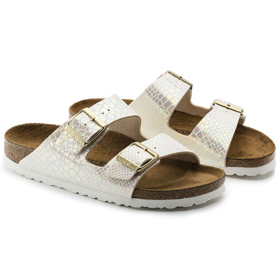 Sandalia Arizona Shiny Snake Cream