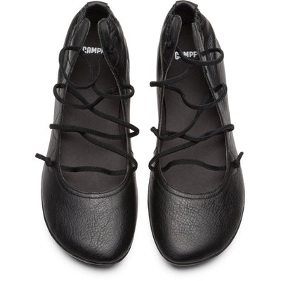 Ballerinas Right Negro Cordones