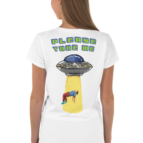 Alien Crop-T-Shirt