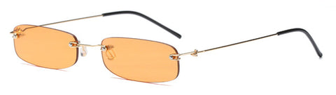 Narrow Rimless Summer Sunglasses