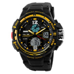 Analog Quartz Men Silicone Wristwatch
