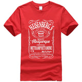 Printed Breaking Bad Heisenberg letter T-shirt