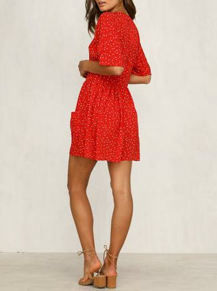Wholesale Captivated Dress (Red) N442 - WinkGalB2B