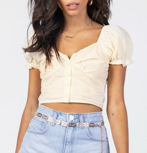 Wholesale ABE CROP TOP LEMON N478 - WinkGalB2B