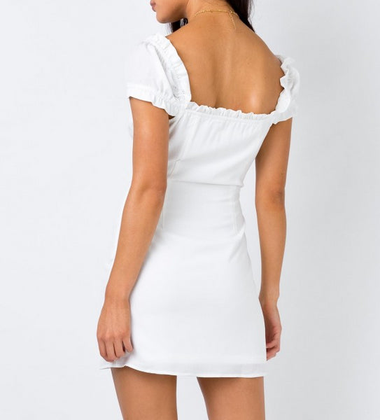 Wholesale BRIGHTSON MINI DRESS WHITE N738 - WinkGalB2B