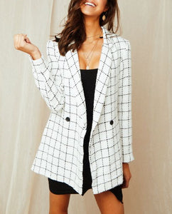 Wholesale Germaine Blazer - White/Black N917 - WinkGalB2B