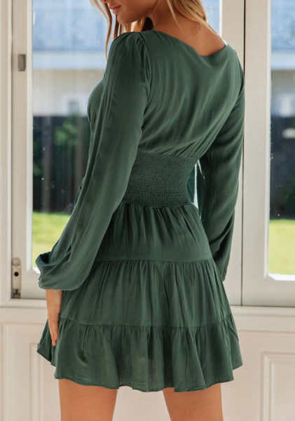 Wholesale HARPER DRESS Green N931 - WinkGalB2B
