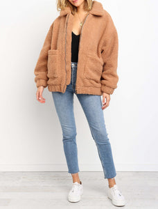 Wholesale SNUGG JACKET - CAMEL N953 - WinkGalB2B
