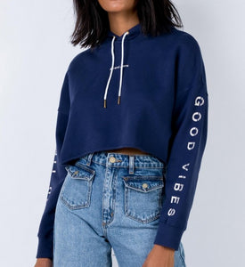 Wholesale A OVERSIZED CROPPED HOODIE SAPPHIRE N960 - WinkGalB2B