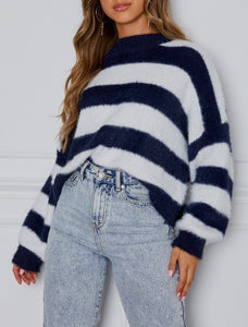 Wholesale Mind Over Matter Knit Navy Stripe N968 - WinkGalB2B