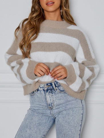 Wholesale Mind Over Matter Knit Nude Stripe N969 - WinkGalB2B