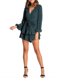 Wholesale Pixie Playsuit - Emerald N1113 - WinkGalB2B