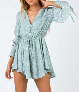 Wholesale CIERRA PLAYSUIT Green N1317 - WinkGalB2B