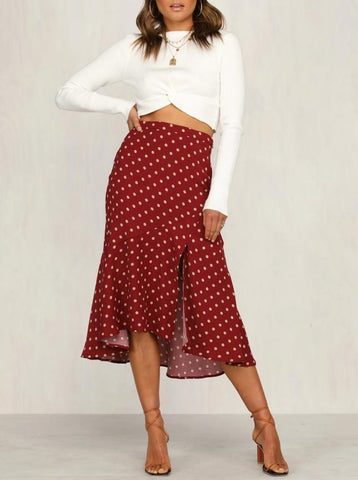 Wholesale YOUNG LOVE SKIRT RED N1327 - WinkGalB2B