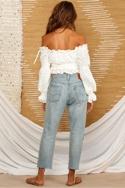 Wholesale Bay Forest Crop Top White N1384 - WinkGalB2B