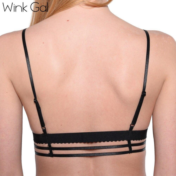 Wink Gal Fashion Lace Bralette Backless Bra Adjustable Quality Lingerie Bra Female Intimates 3076 - WinkGalB2B