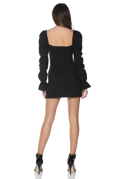 Wholesale ISABELLA MINI DRESS - BLACK N1007 - WinkGalB2B