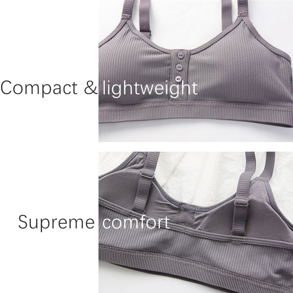 Wholesale Sports Cotton Padded Bralette W13067 - WinkGalB2B