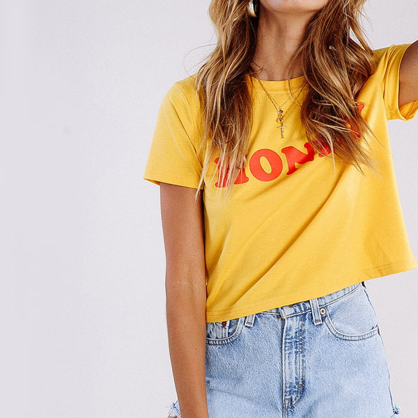 Wink Gal  All You Honey Tee Red T17223 - WinkGalB2B