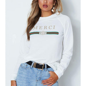 Wink Gal Merci Sweater White T17230 - WinkGalB2B