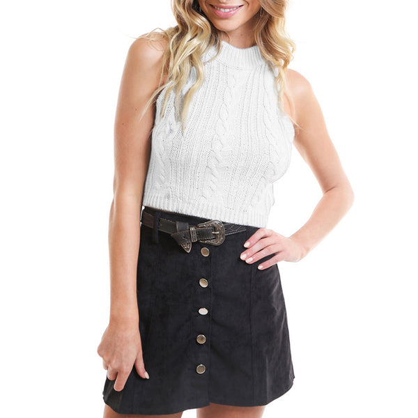 Wholesale Discount  White Vest Sweater N60 - WinkGalB2B