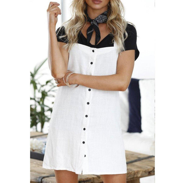 Wink Gal Dress White D17213 - WinkGalB2B