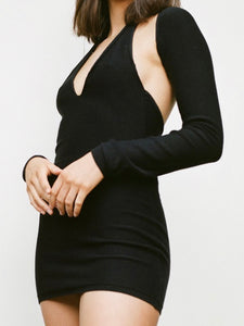 2 Piece Black Short Dress
