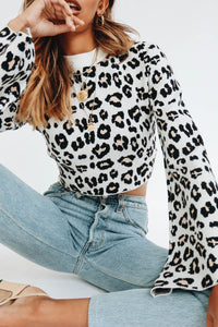 Wholesale Be Ambitious Knit Top // Leopard N863 - WinkGalB2B
