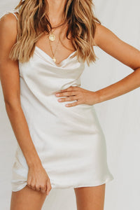 Wholesale Show Stopper Cowl Neck Slip Dress // Nude N229 - WinkGalB2B