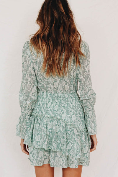 Wholesale Eccentric Auteur Mini Dress // Mint N1076 - WinkGalB2B