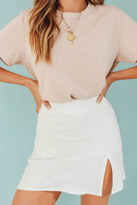 Wholesale True To Fashion Mini Skirt // White N1239 - WinkGalB2B