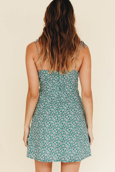 Wholesale Hit Of Summer Tie Mini Dress // Green N331 - WinkGalB2B