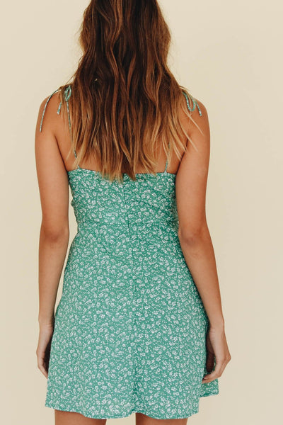 Wholesale Hit Of Summer Tie Mini Dress // Mint N332 - WinkGalB2B