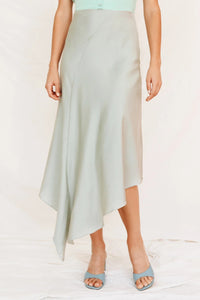 Wholesale Day At Versailles Bias Cut Midi Skirt // Sage N1312 - WinkGalB2B