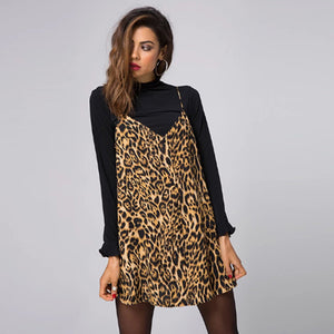 Wholesale Charmed Mini Dress Leopard I00003 (10pcs/pack) - WinkGalB2B
