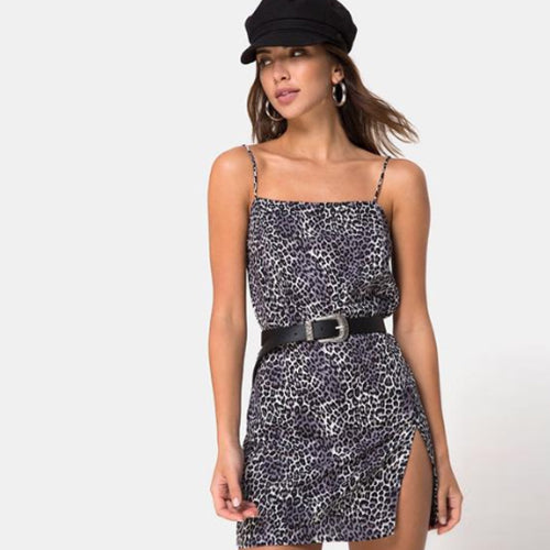 Leopard Mini Dress Silver I00008 (10pcs/pack) - WinkGalB2B
