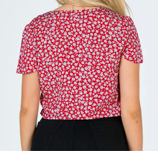 Wholesale  Motel Vaco Blouse Red Disty Rose // Red  N1460 - WinkGalB2B